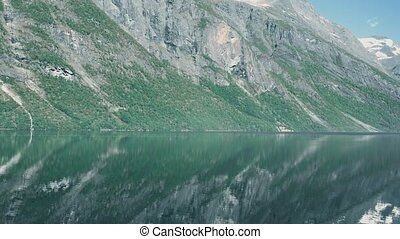 Eikesdalsvatnet Fjord, Norway - Graded and stabilized...