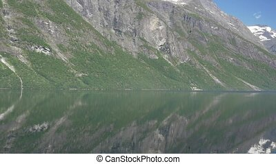 Eikesdalsvatnet Fjord, Norway - Untouched and flat material,...