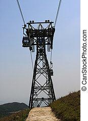 eiland, 2, mei, auto, kabel, lantau, 2009