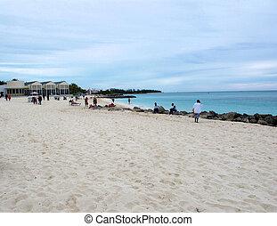 eiland, bahama, strand, grande