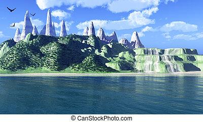 eiland, fantastisch