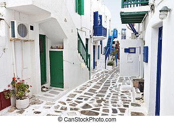 eiland, mykonos, griekenland