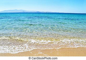 eiland, naxos, strand, cyclades, griekenland