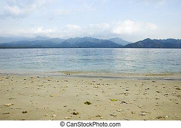 eiland, strand, gili