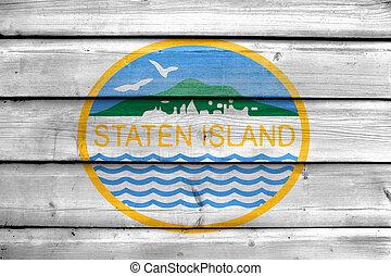 eiland, vlag, staten