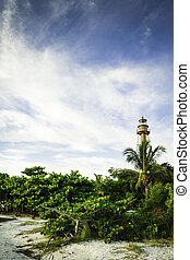 eiland, vuurtoren, sanibel