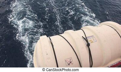 Eilat, Israel - emergency raft on the ship 4K