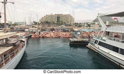 Eilat, Israel - Harbour tourist ships part 7 4K