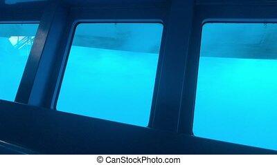 Eilat, Israel - underwater part of the ship part 3 4K