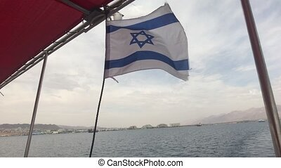 Eilat, Israel - Walk on the sea on a tourist ship before the rain part 4 4K
