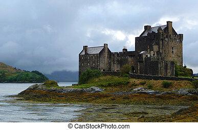 eilean, castelo, altiplanos, escócia, donan
