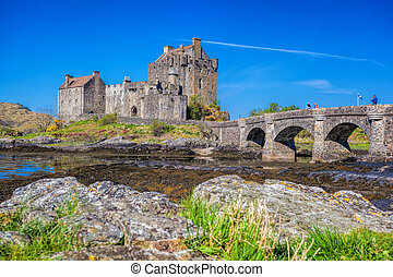 Eilean Donan Castle in Highlands of Scotland