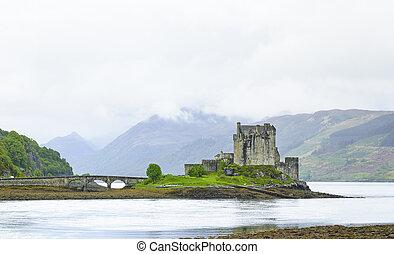 Eilean Donan Castle in Loch Duich lake. Highlands of Scotland