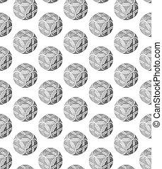 ein, abstrakt, muster, von, kugelförmig, objects., manufacturability, runder , gegenstände, abstrakt, design.