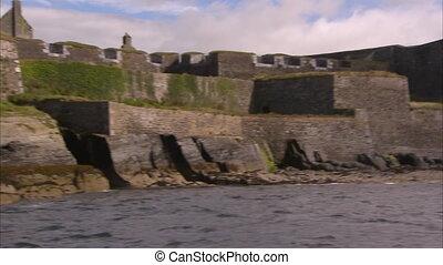 ein, altes , hofburg, in, irland