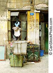 ein, altes , straße, in, guangzhou