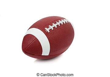 ein, amerikanische , fußball, weiß