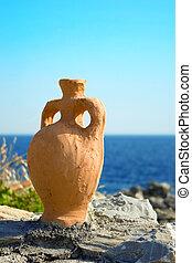 ein, amphora, aus, der, meer