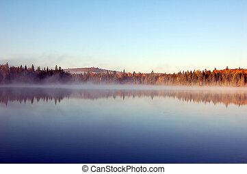 ein, autumn\\\'s, landschaftsbild, wi