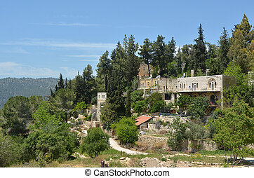 Ein Kerem village in Jerusalem - Israel - Landscape view of...