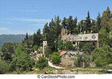 Ein Kerem village in Jerusalem - Israel - Landscape view of...