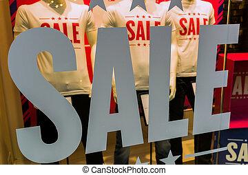 eind-, verkoop