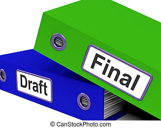 eind-, wisselbrief, folders, betekenen, bewerken, en,...