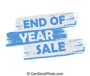 einde, verkoop, jaar