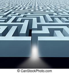 eindeloos, labyrint, doolhof