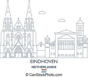 Eindhoven City Skyline, Netherlands