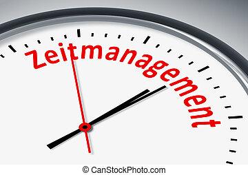 Uhr mit Text - Eine Uhr mit Text Zeitmanagement