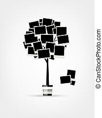 einfügen, stammbaum, design, fotos, rahmen, dein