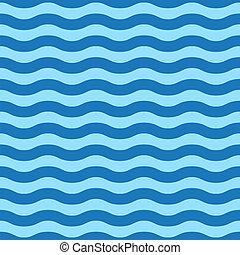einfache , blaue welle, seamless, muster
