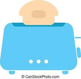 einfache , blaues, toaster, ikone