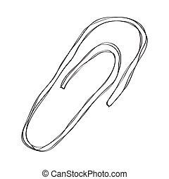 Büroklammer clipart  gekritzel, büroklammer Clipart Vektor - Suche Illustration ...