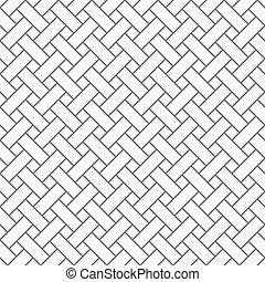 einfache , graue , monochrom, gitter, muster