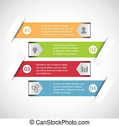 einfache , infographic, schablone