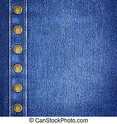 einfache , jeansstoff, nahaufnahme, hintergrund