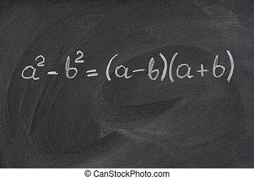 einfache , mathematische formel, auf, a, tafel