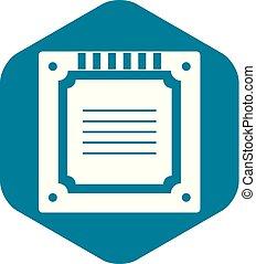 einfache , multicore, modern, cpu, ikone