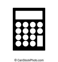 einfache , taschenrechner, ikone, bild