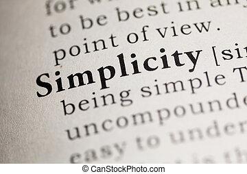 einfachheit
