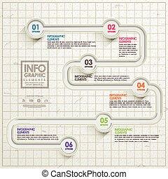 einfachheit, infographic, design, schablone