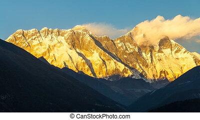 einfassung., everest, 8845m, höchsten, mountain.