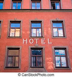 eingang, haupt, hotel