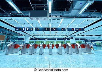 eingang, station, metro