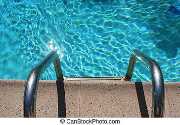 eingang, teich, schwimmender