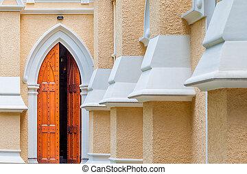 eingang, von, a, kirche