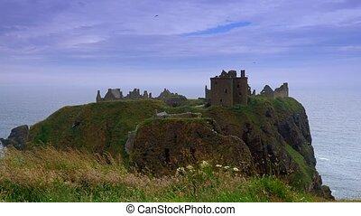 eingestuft, -, schottland, version, dunnottar castle