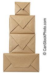 einhüllen, kasten, paket